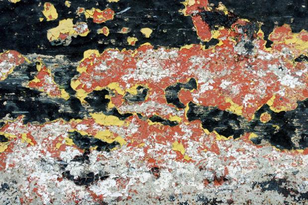 Peeling Paint on Concrete Texture