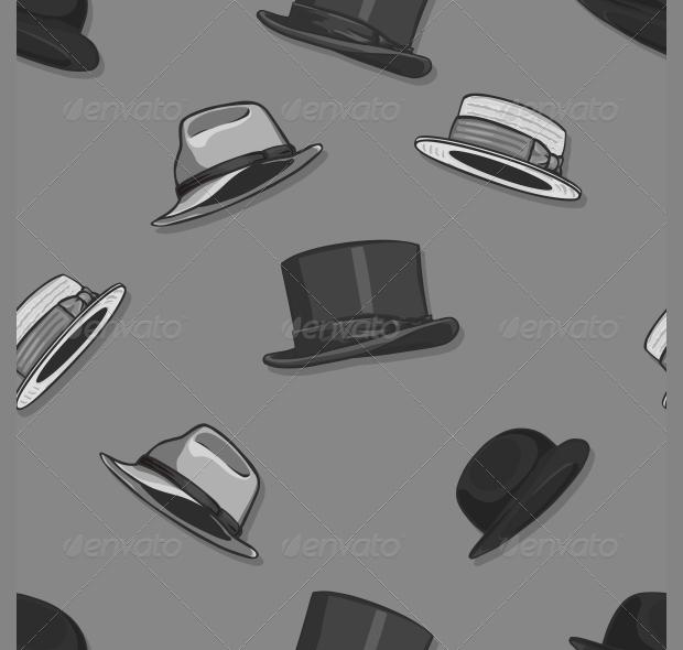 Seamless Hats Pattern Design