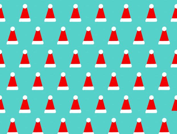 Christmas hats pattern