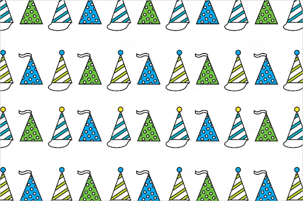 Party Hats Seamless Pattern