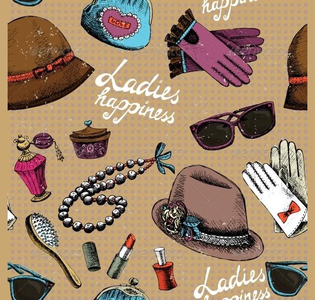 Women Hats Pattern Design