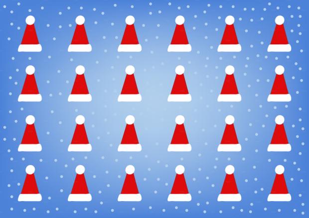 Editable Christmas Hat Pattern