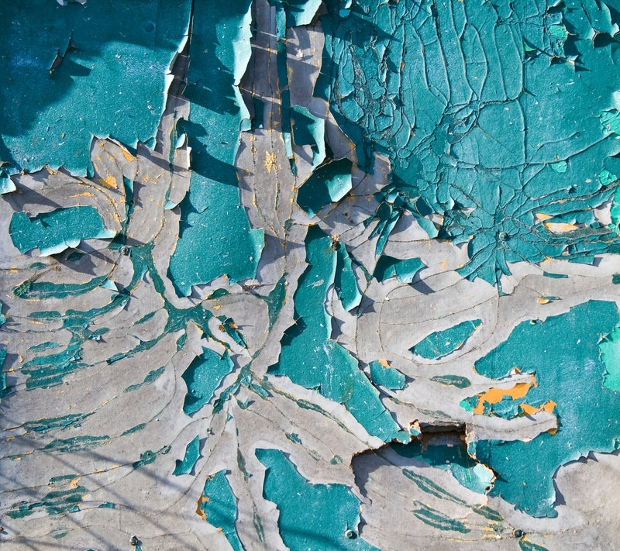 Turquoise Paint Peeling Texture