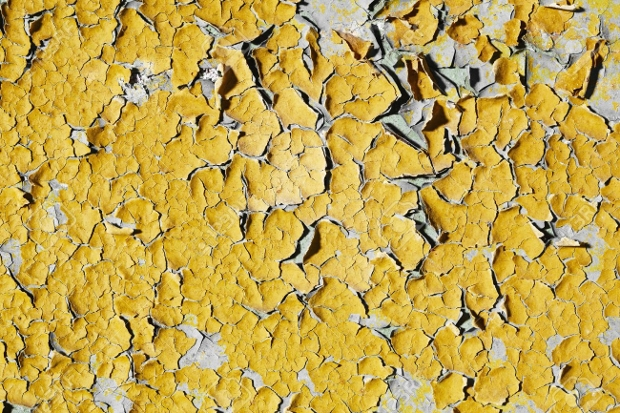 old yellow wall paint peeling texture