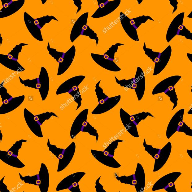 witch hat halloween seamless pattern