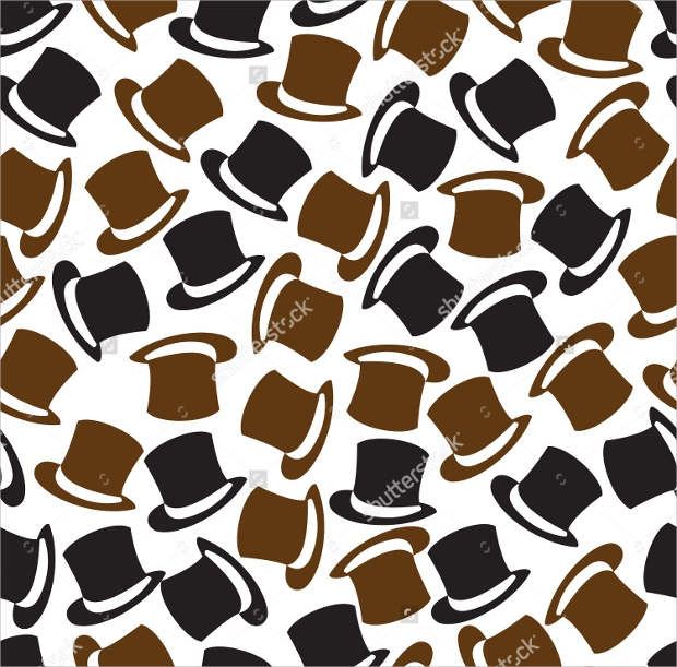 Black and Brown Hat Pattern