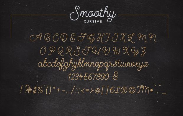 cursive script font