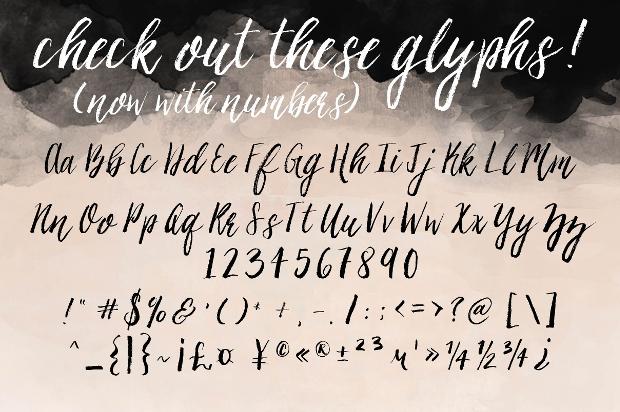 ashley brush script font