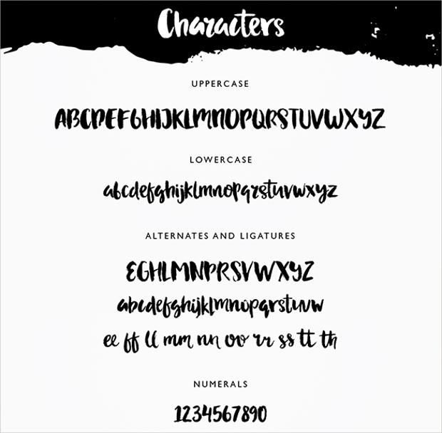 adeline brush script typeface font
