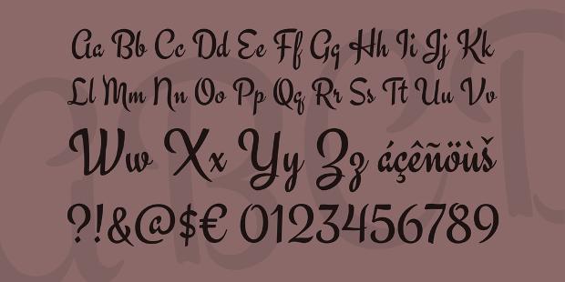 engagement font
