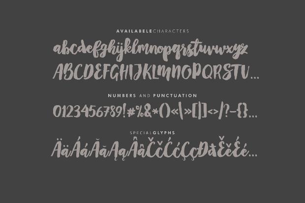mayton brush script font