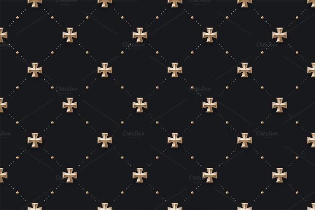 seamless black cross pattern