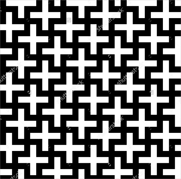 vector seamless cross pattern