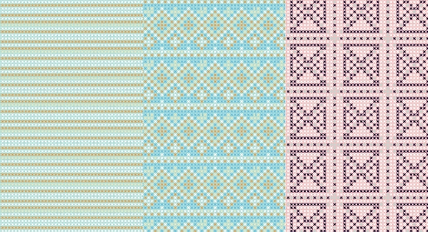 pastel cross stitch seamless pattern