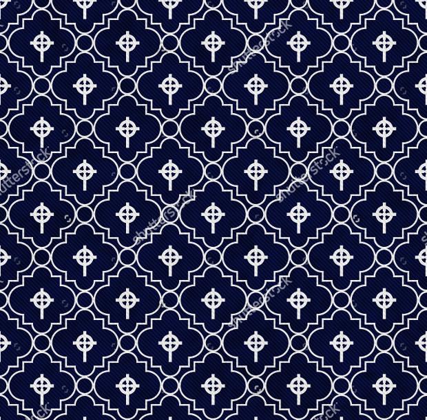 celtic cross symbol tile pattern