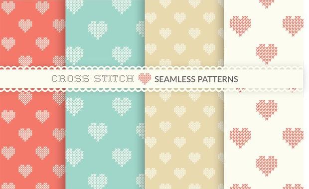 free cross stitch seamless pattern