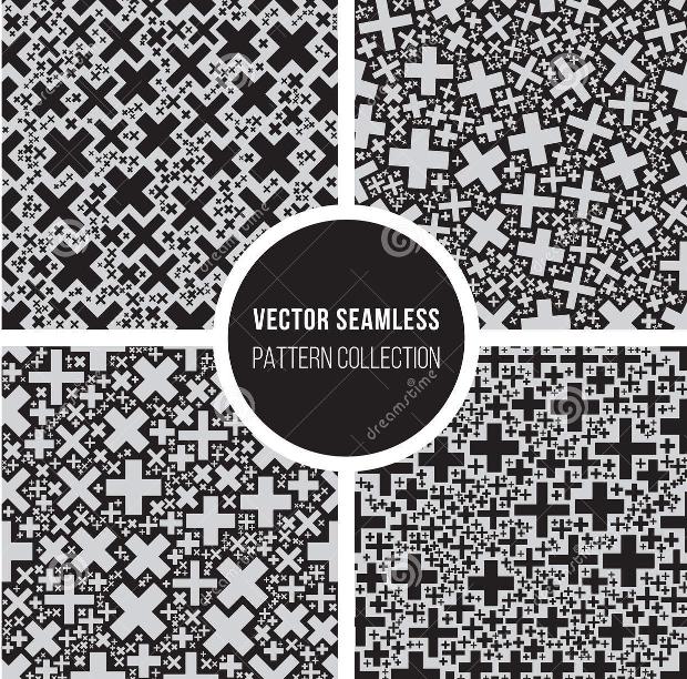 cross mosaic geometric pattern