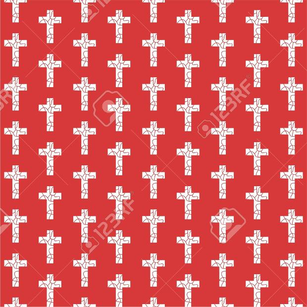 decorative repeating cross pattern