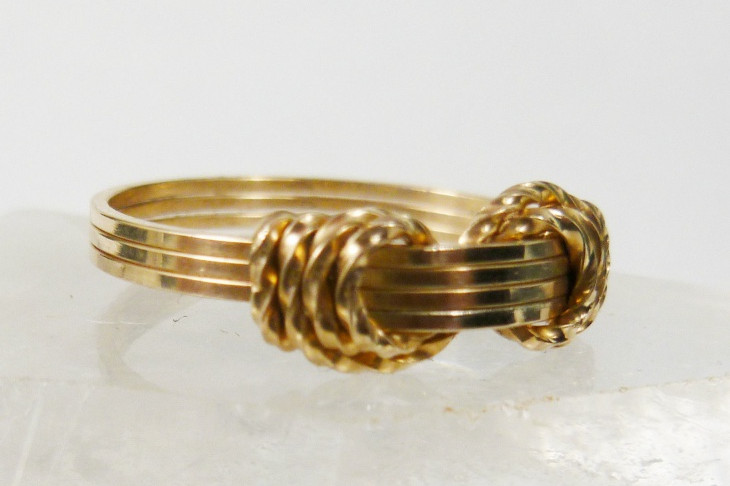 Yellow Gold Wire Wrapped Ring