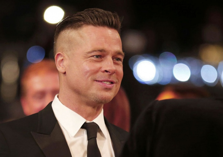brad pitt undercut brush up hairstyle idea