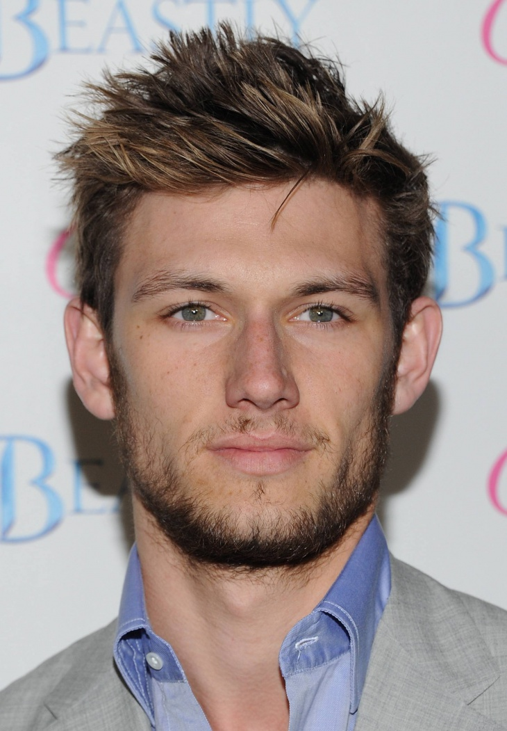 alex pettyfer messy brush up hairstyle