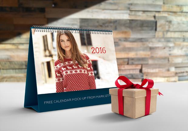 free calendar mockup design