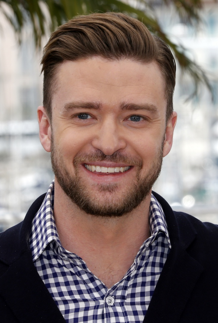 justin timberlake brush up hairstyle for round face