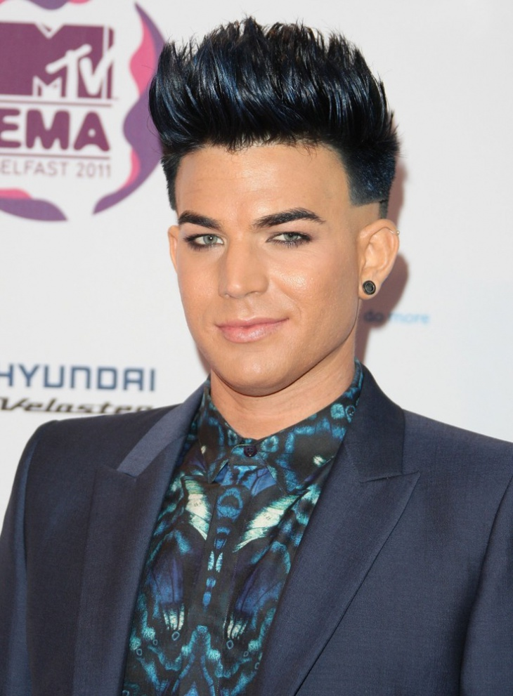 adam lambert faded brush up haircut