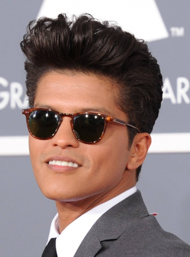 bruno mars brush up hairstyle