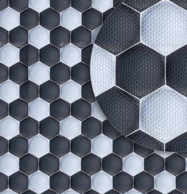 Football or Soccer Ball Texture