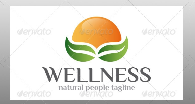Wellness Nature Logo Design