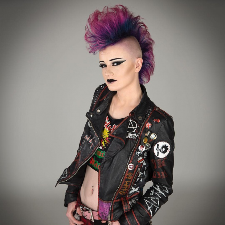 Punk Hair and Makeup Idea