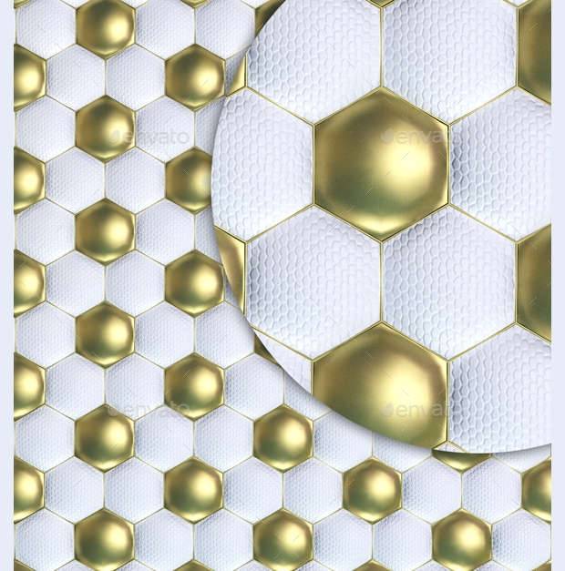 White and Gold Ball Texture