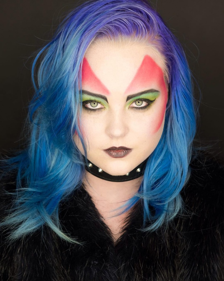 Colorful Punk Makeup Idea