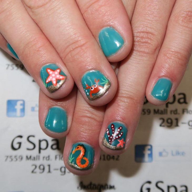 21+ Starfish Nail Art Designs, Ideas | Design Trends ...