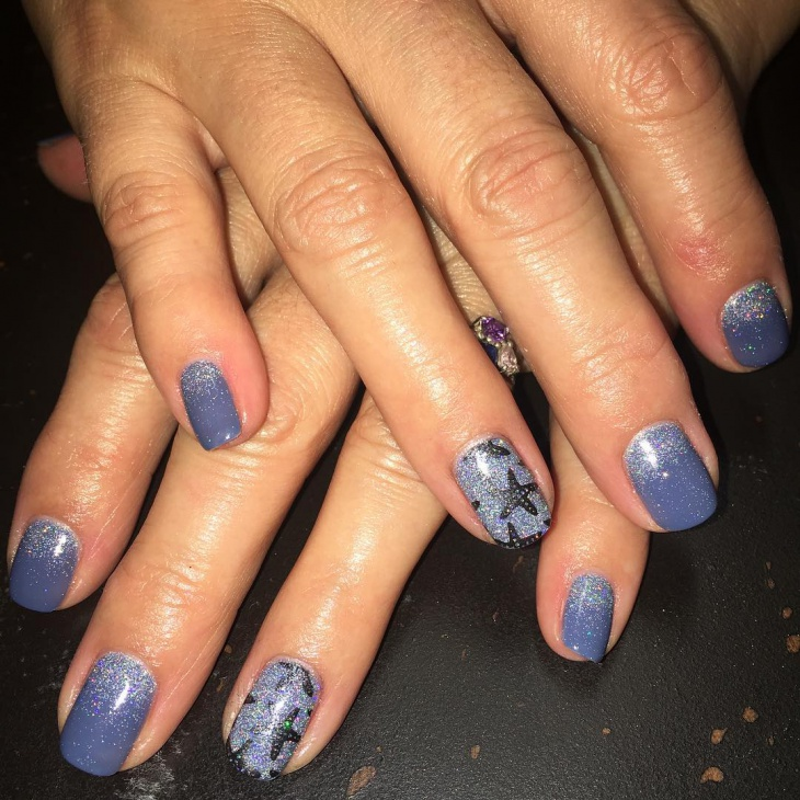 starfish shellac nails