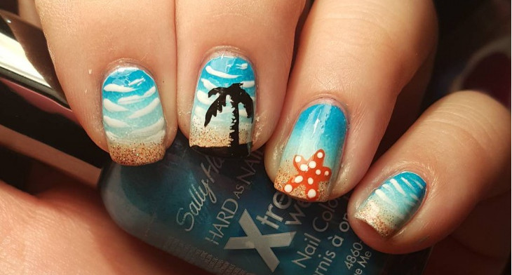 img - 21+ Starfish Nail Art Designs, Ideas Design Trends - Premium PSD