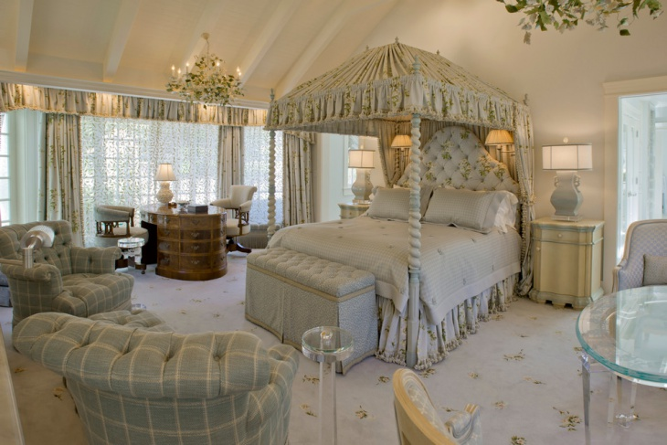canopy feminine bedroom design