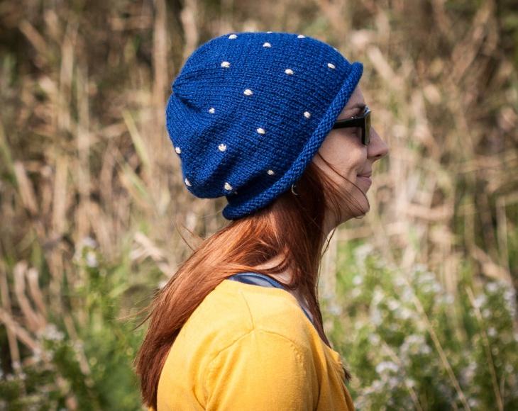 polka dot beanie hats