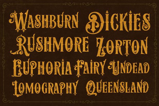 elegant classic ornament type font