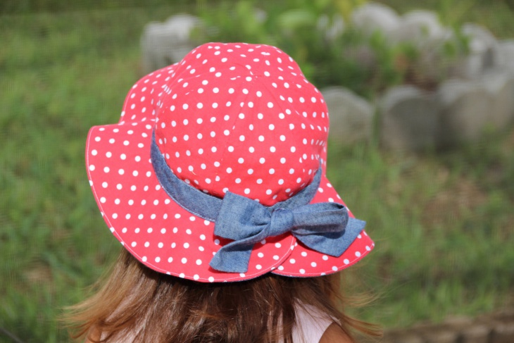 Polka Dot Beach Hat