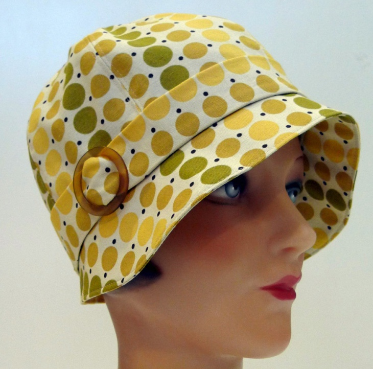 yellow polka dot hat