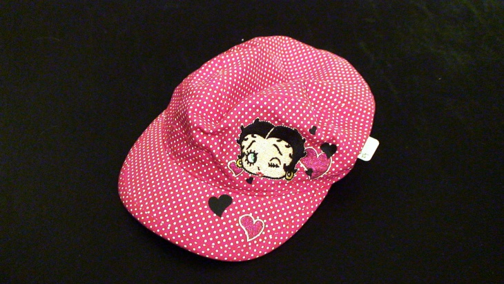 Pink and White Dotted Hat