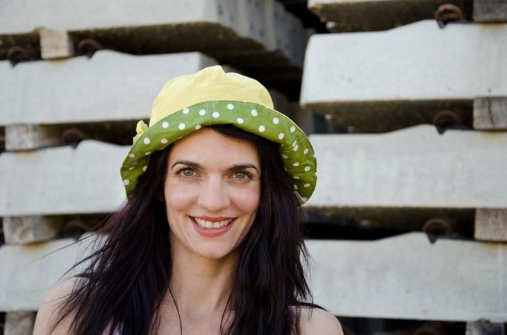 boho style polka dot hat