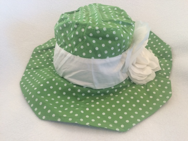Green and White Dotted Hat