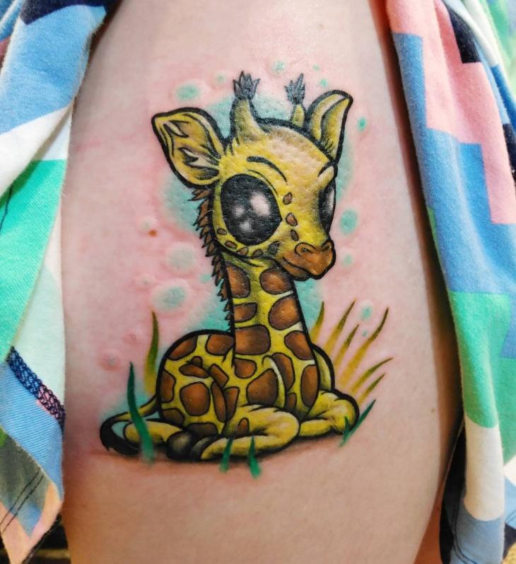 zombie giraffe tattoo