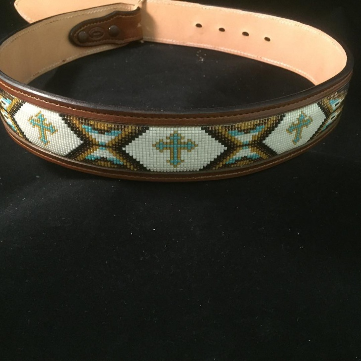 Leather Aztec Belt