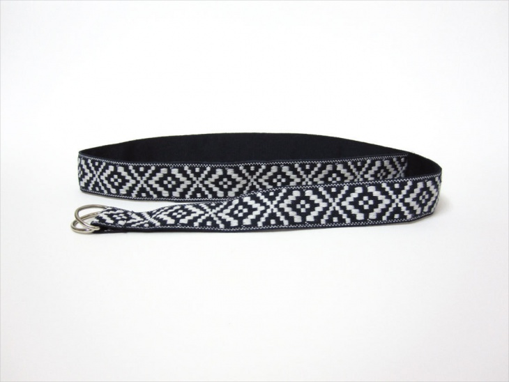 Navy Blue Aztec Belt Design
