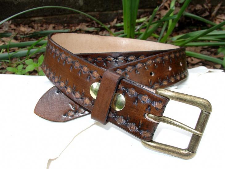 Mens Aztec Print Belt