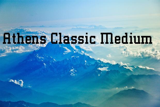 athens classic font